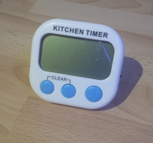 Timer with dead battery